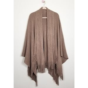 Sweaters - Chic Stylish Poncho with Fringe Detail